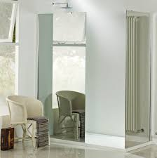 jupiter 1000mm mirrored 8mm wet room shower screen panel with easy clean glass