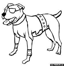 Small Picture Dogs Online Coloring Pages