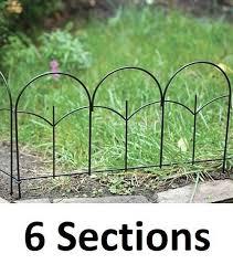 details about 6 panacea 89393 14 x 18 black metal triple stalk garden edge border fencing