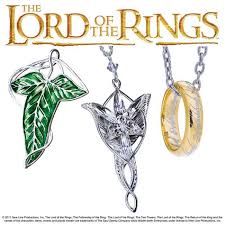 shown here are the elven leaf brocch of lothlorien the evenstar and the one ring on chain