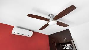 the heat is on the ceiling fan vs the air conditioner