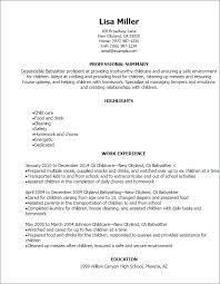 Babysitter Resume Template Custom Childcare Resume Templates Inspirational Babysitting Resume Example