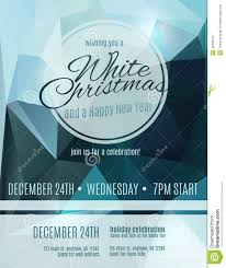 elegant white christmas party flyer stock vector image 46438153 elegant white christmas party flyer