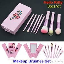 newest pink o kitty makeup brushes set professional cosmetics mini make up brushes kit kids makeup brushes with mirror box makeup set eyeshadow for