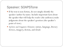 Soapstone Ap Acronym Analyzing Text Ppt Download