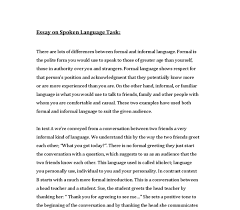 Informal Essay Mistyhamel