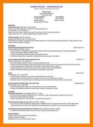 Undergraduate Student Cv Format.undergraduate-Student-Cv-Sample ...
