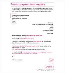 complaint letters templates hr templates premium formal complaint letter pdf format