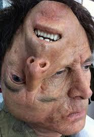 blanche macdonald fx makeup instructor holland miller upside down face