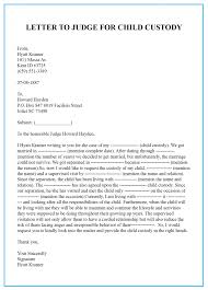 Child Custody Letter Sample Sample Character Reference Letter For Court Child Custody