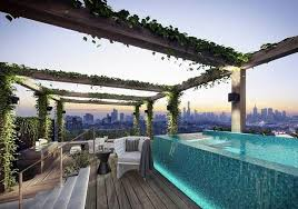 roof deck furniture. Jacuzzi On The Rooftop Terrace Pool From Glass Decking Rattan Furniture Roof Deck S