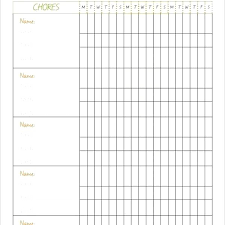 Weekly Checklist Family Chore Chart Template Free Word Excel Format Pertaining To
