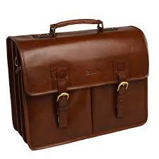 gareth heavy duty leather briefcase