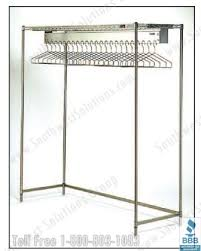 Lab Coat Rack Wire Hanging Clothing Racks Adjustable Shelves Store Hospital Lab 44