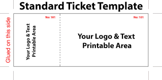 Sample Raffle Tickets Template Ticket Template Free