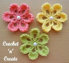Small Crochet Flower Pattern