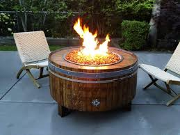 image of outdoor patio table propane fire pit design