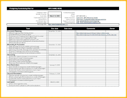 Fundraising Plan Template Fundraiser Checklist Template Non Profit Event Planning