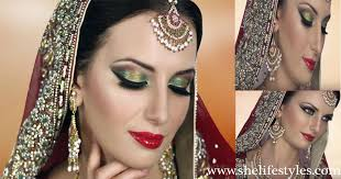 therefore the red golden green asian bridal makeup tutorial is here for you so that you can get some ideas about the latest bridal looks