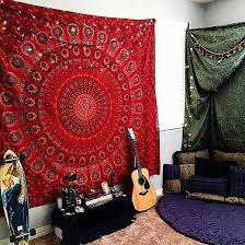 wall decor red tapestry tapestry bedroom