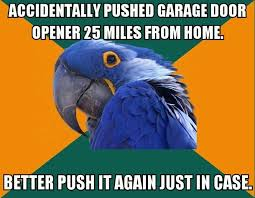 i ped my home garage door opener while at work