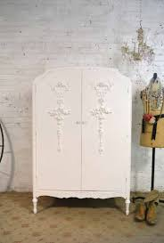 white wood wardrobe armoire shabby chic bedroom. Armoire Painted Cottage Chic Shabby French Romantic Armoire/ War White Wood Wardrobe Bedroom