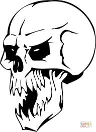 Small Picture Undead Skull coloring page Free Printable Coloring Pages