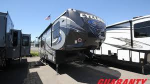 2017 heartland cyclone 3418 toy hauler fifth wheel video tour guaranty