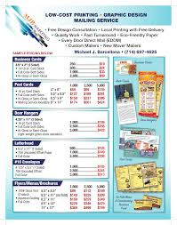 sample low cost print prices mjb marketing direct mail orange mjb design print flyer 1014