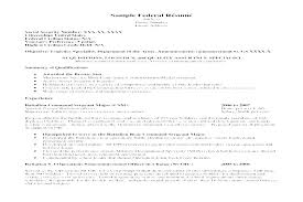 Federal Resume Samples Sample Resume Sample Resume Resume Format ...