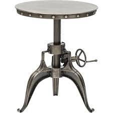 industrial age furniture. Element Crank Side Table, Nickel - Furniture Accent Tables End Industrial Age L