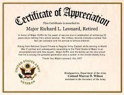 Honorary Certificate Wording Retirement Certificate Of Appreciation