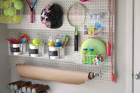 diy garage pegboard outdoor toy storage wall the creativity exchange scotchblue tape