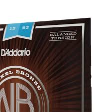 Acoustic Guitar String Tension Chart Nb1252bt Nickel Bronze Acoustic Guitar Strings Daddario