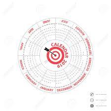 Circle Calendar Template 2019 Calendar Template Circle Calendar Template Calendar 2019