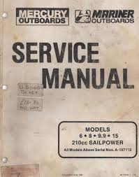 Mercury Mariner Outboards Service Manual