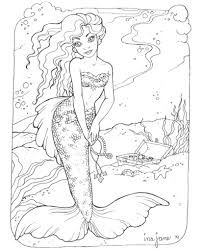 Small Picture Coloring Pages Mermaids H2O Coloring Pages Pinterest Mermaid