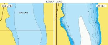 Vineyard Lake Depth Chart Updates To The Bathymetry Of Keuka Lake