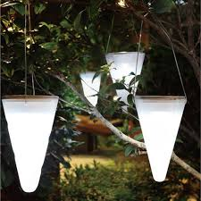 solar lighting ideas hanging cornets