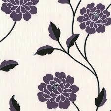 Purple Flower Wallpaper For Bedroom Black And Cream Wallpaper Wallpapersafari