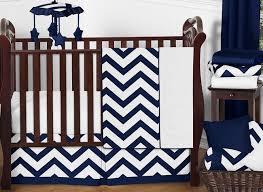 navy and white chevron zigzag baby bedding 11pc crib set by sweet jojo designs only 189 99