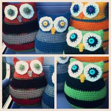 Owl Pillow Pattern Bizzy Crochet Owl Pillows In Two Sizes Last Pattern For 2012