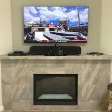stylish decoration mounting tv above fireplace tv above