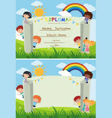 Kids Certificate Border Border School Rewards Certificate Vector Images 63