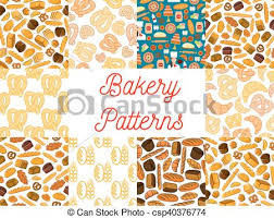 Bakery Seamless Pattern Backgrounds Bakery And Patisserie Seamless