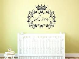 nursery name decor crown princess frame custom wall decals personalized girls name decor nursery baby room