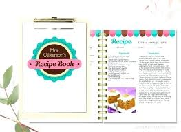 recipe book word template free printable cookbook pages