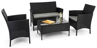 outdoor sofa and chair set tempered