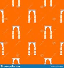 Archway Graphic Designs Archway Construction Pattern Vector Orange Stock Vector