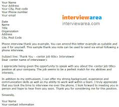 phone interview thank you letter